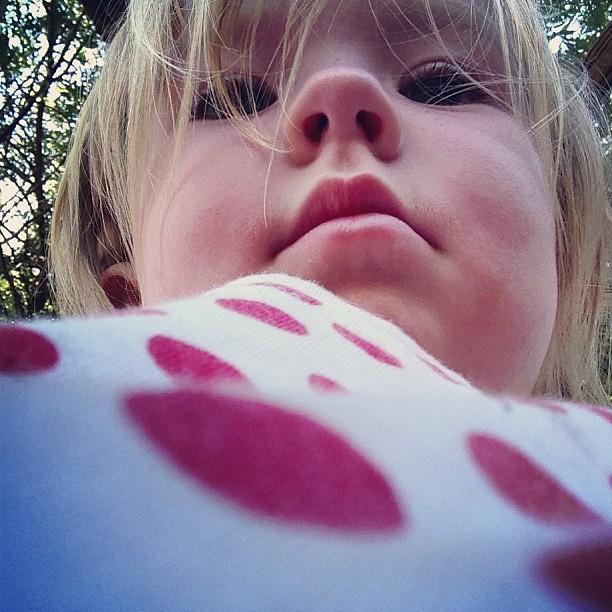 Tiny selfie #polkadots #selfie #gianttoddler