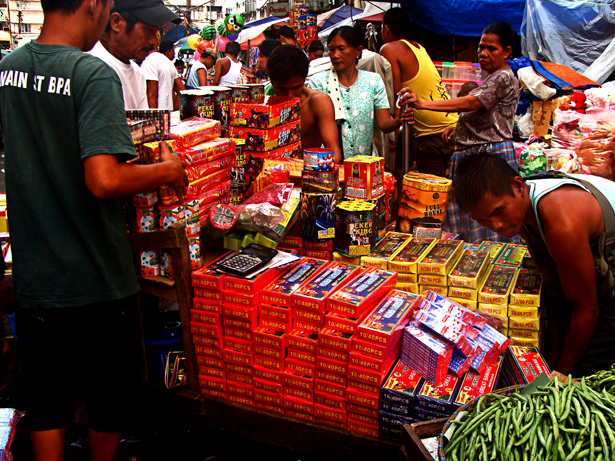 Firecrackers at Divisoria