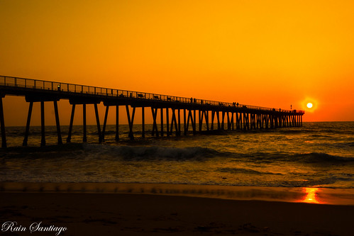 Sunset at Hermosa Beach