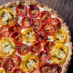 Tomato Thyme Ricotta Tart