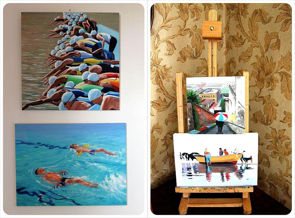 Valparaiso Casa Kreyenberg B&B paintings