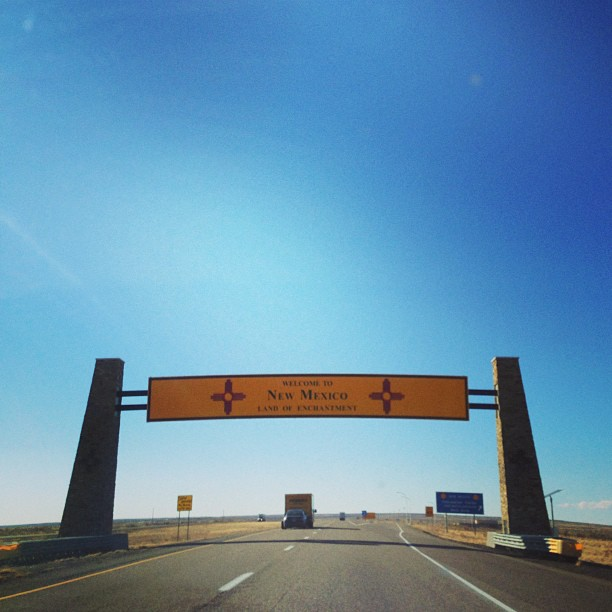 New Mexico! & They have new signage!