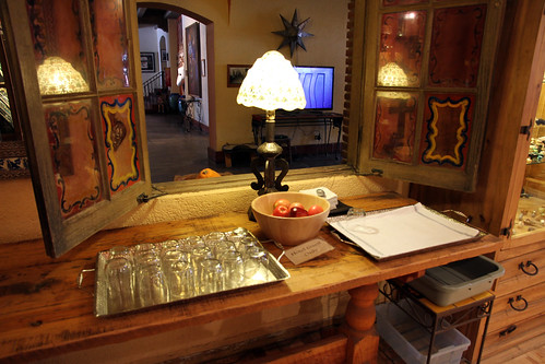 La Posada - Painted Interior Window and Snacks