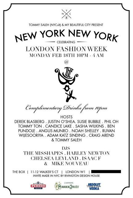 NYNY London party