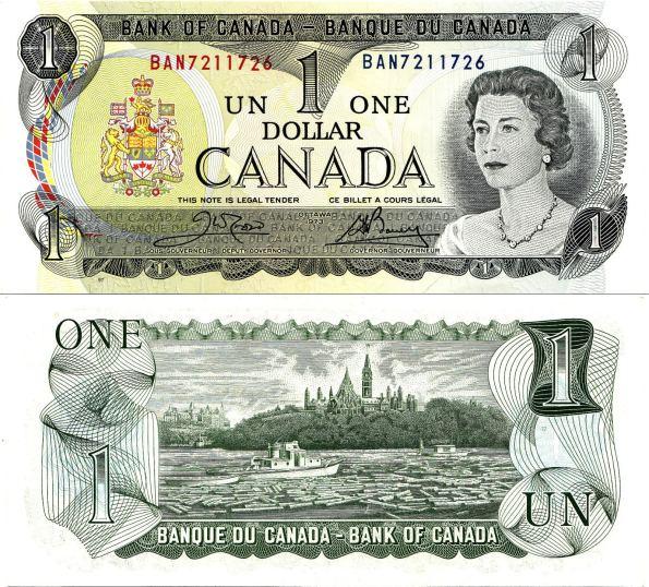 1 Dolár Kanada 1973, Pick 85a