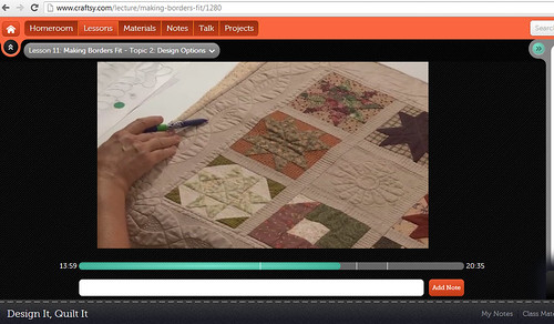 craftsy Free-Motion Quilting Class with Cindy Needham  lesson 11