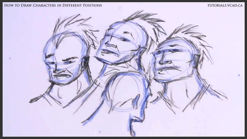 learn how to draw characters in different positions 019