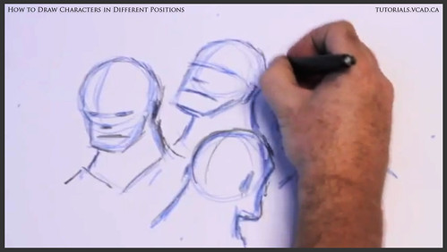 learn how to draw characters in different positions 010