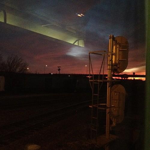 A tiny peek of the beautiful sunset
