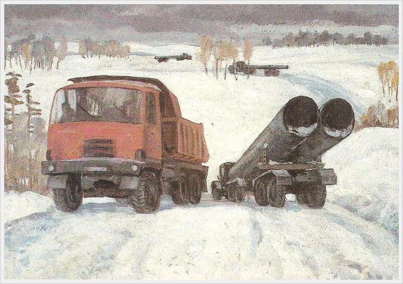 Сапожников Михаил Тимофеевич (Россия, 1919-2007) «Зимник»