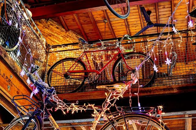 Bicycles at Cafe Hollander