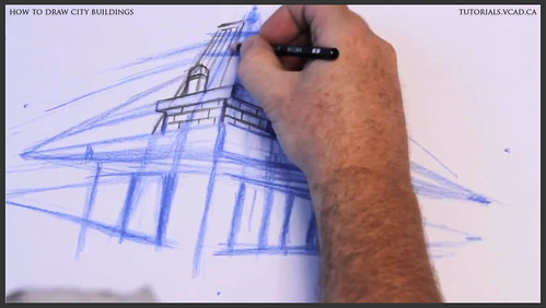 learn how to draw city buildings 013