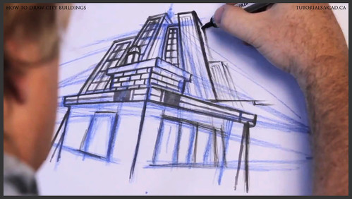 learn how to draw city buildings 026