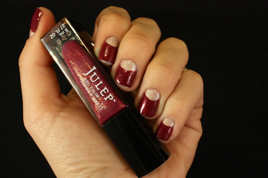SF Bay Area Style Blog - Half Moon Manicure Using Julep Nail Color