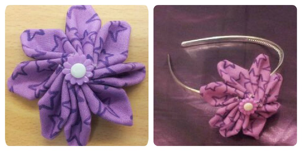 fabric floral hairbands
