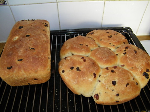Home Baked Sultana Bread Loaves - Hausgebackene Sultaninen Brote by abracacamera