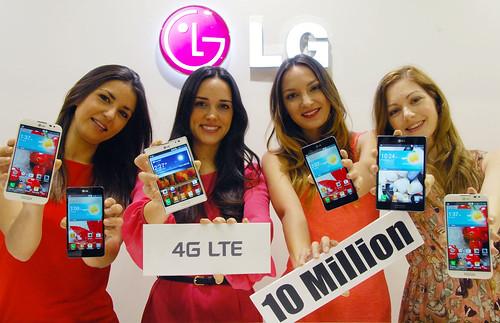 LG전자 LTE 스마트폰 1,000만대 돌파
