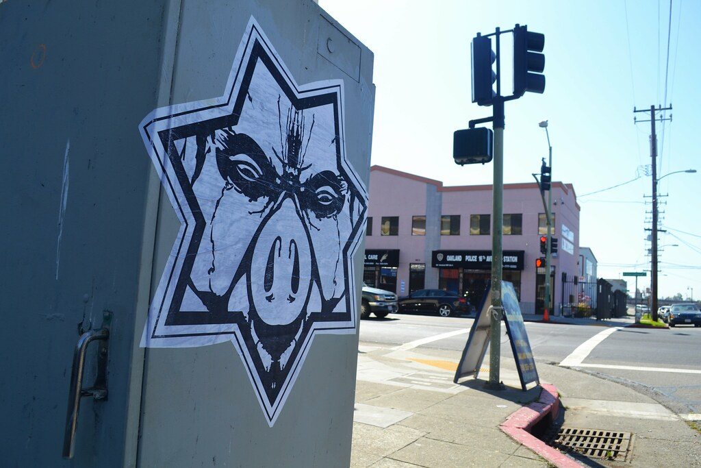 STARPIG, NMG, STREET ART, Graffiti, Oakland, Not My Government,