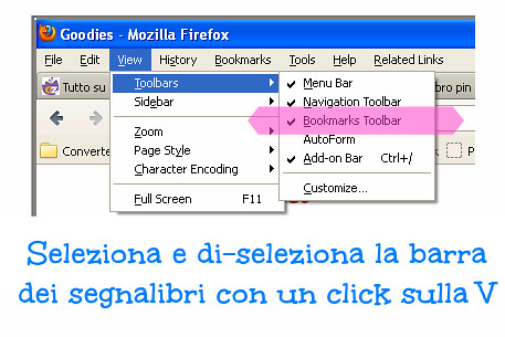 come aggiungere e rimuovere la barra dei segnalibri, pinterest bookmark, pin it button