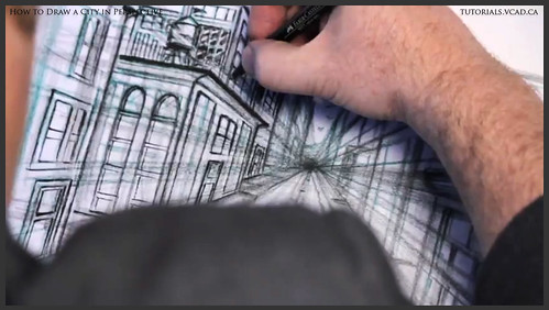 learn how to draw city buildings in perspective 027