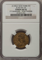 Tom Thumb token obverse