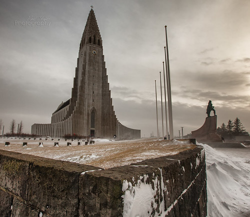 snow church iceland wind times reykjavík hallgrímskirkja disparate hallgrímur