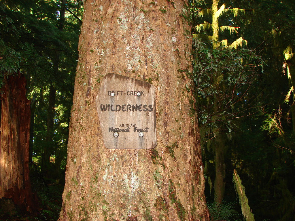 Drift Creek Wilderness sign