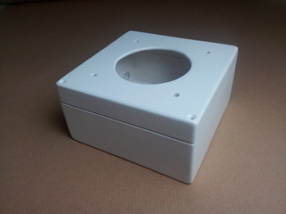 Speaker box painted white