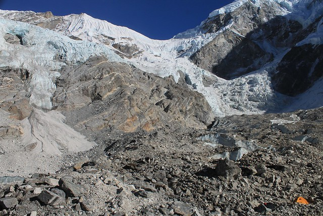 Camp on Trakording Glacier