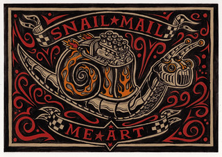 Mail Me Art Project - Snail Mail Me Art - illustration by Rod Hunt