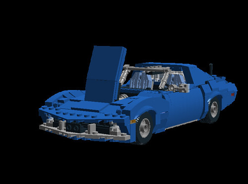 Corvette C3 hood open