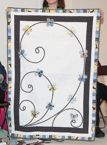 Kristin L's Madrona Road Challenge quilt