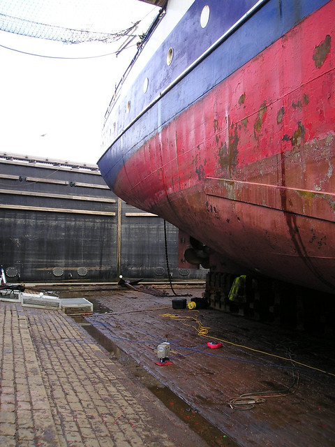 Laser scanning in Garvel drydock