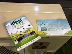 An air source heat pump at the Ideal Home Show