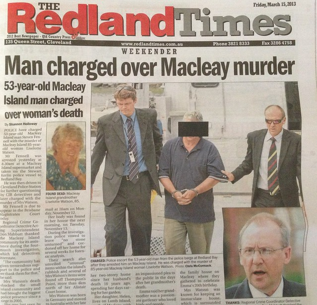 Man charged over Macleay murder newspaper cutting