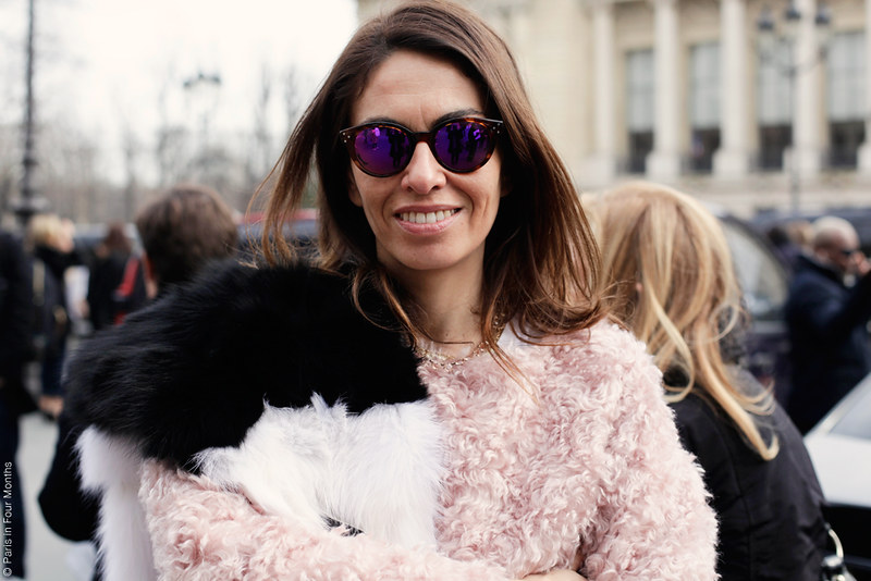 Viviana Volpicella at Fashion Week in Paris FW13