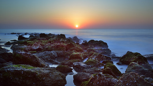 beach sunrise rocks eire wilmington fortfisher d800 wilmingtonnc saintpatricksday fortfishersunrise