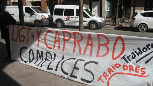 UGT i Caprabo complices per reprimir a CGT Caprabo