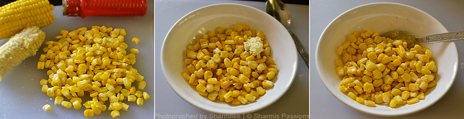 How to make cup corn recipe - Step1