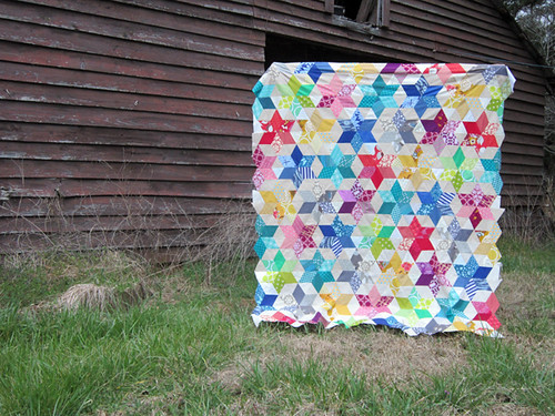 Starbright quilt top