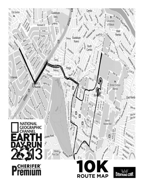 the running enthusiast  natgeo earth day run 2013 10K route map