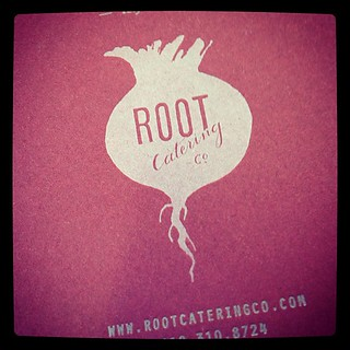 Break from orthodoxy on this set of cards for @rootcateringco that will visibly support their great taste.