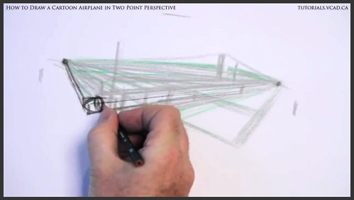 learn how to draw a cartoon airplane in two point perspective 011