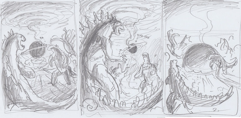 godzilla-cover-roughs