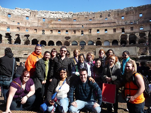 IU Kokomo students at the Colosseum