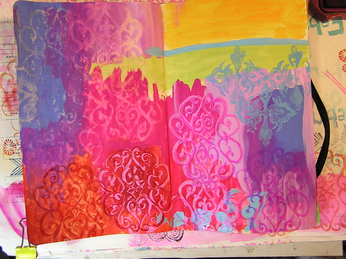 Vibrant Colors Art Journal page 2