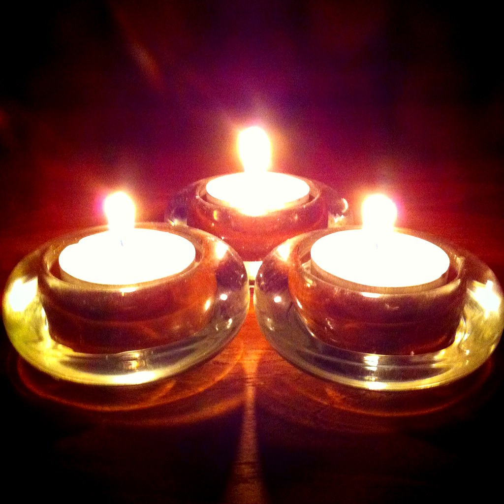 Candle lights during Earth Hour