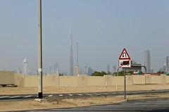 Vue lointaine sur la Burj Khalifa Tower