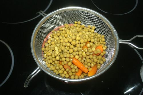 25 - Gemüse abtropfen lassen / Drain vegetables