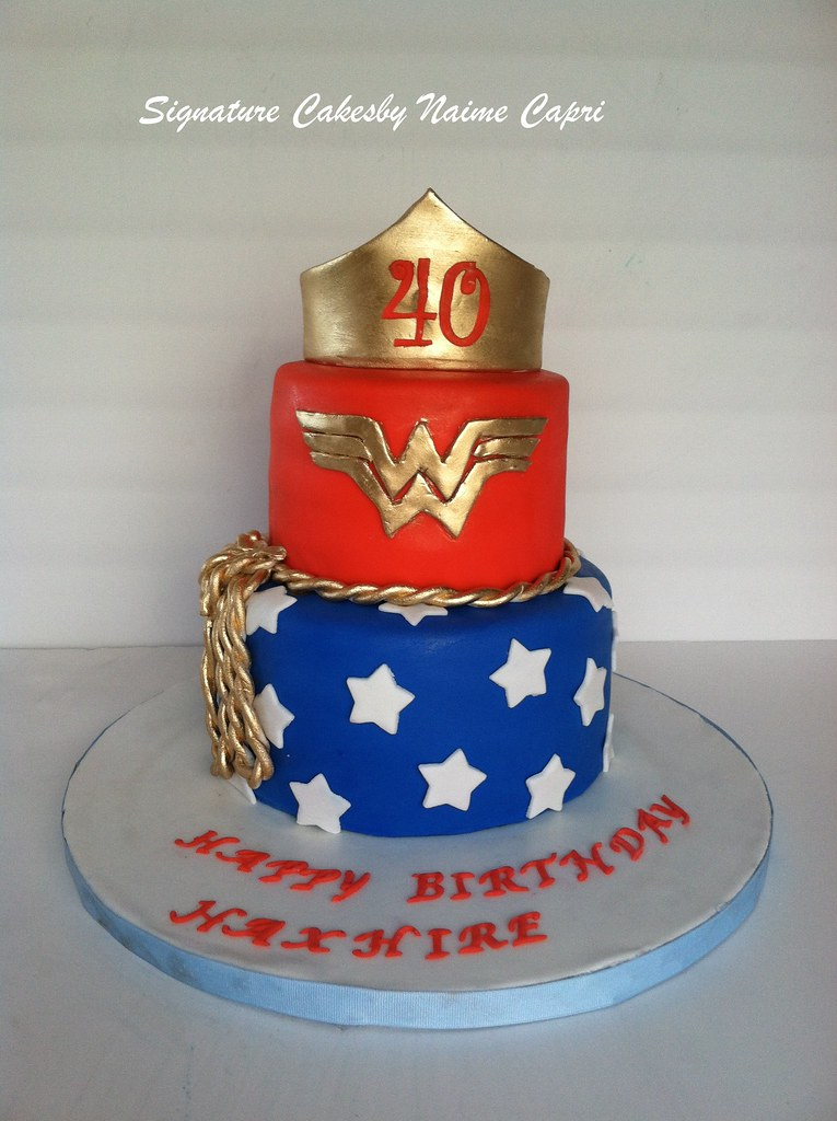 Wonder Women 40th Birthday Cake